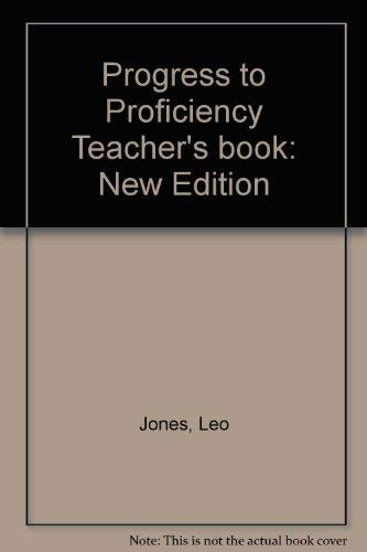 9780521425742: Progress to Proficiency Teacher's book: New Edition