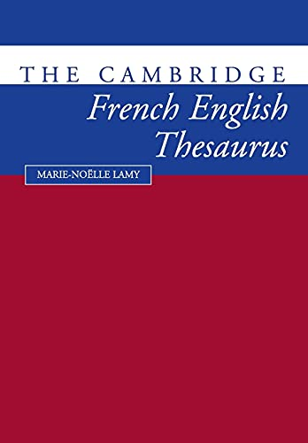 9780521425810: The Cambridge French-English Thesaurus
