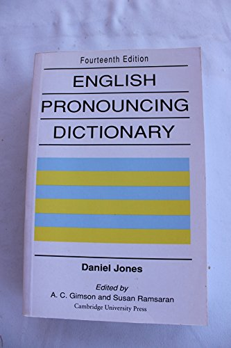 9780521425865: English Pronouncing Dictionary