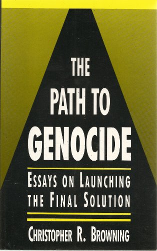 the path to genocide essays on launching the final stock image