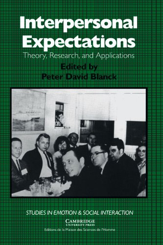 9780521428323: Interpersonal Expectations: Theory, Research and Applications (Studies in Emotion and Social Interaction)