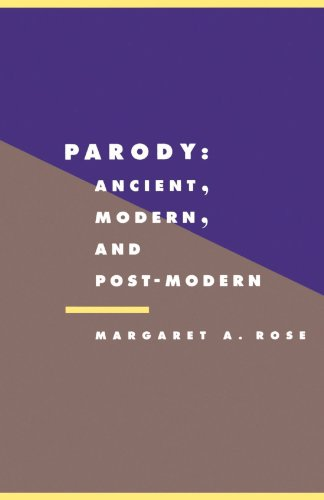 9780521429245: Parody: Ancient, Modern and Post-Modern (Literature, Culture, Theory)