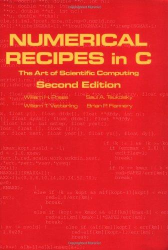 9780521431088: Numerical Recipes in C book set: Numerical Recipes in C: The Art of Scientific Computing