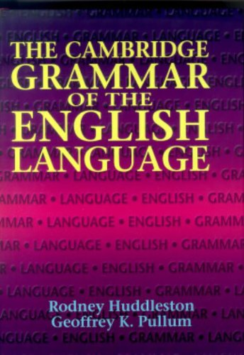 9780521431460: The Cambridge Grammar of the English Language