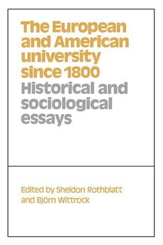 9780521431651: The European and American University since 1800