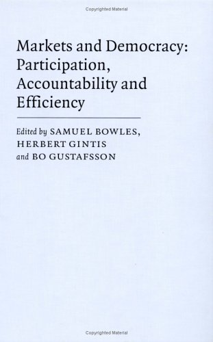 9780521432238: Markets and Democracy: Participation, Accountability and Efficiency