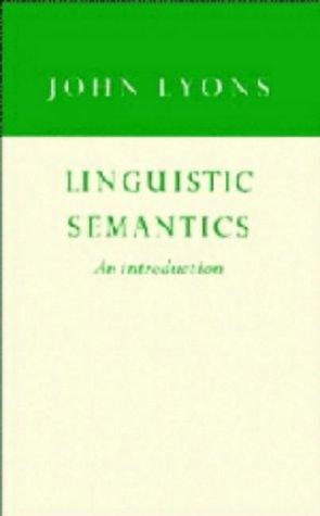 9780521433020: Linguistic Semantics: An Introduction (Cambridge Approaches to Linguistics)