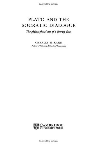 9780521433259: Plato and the Socratic Dialogue: The Philosophical Use of a Literary Form
