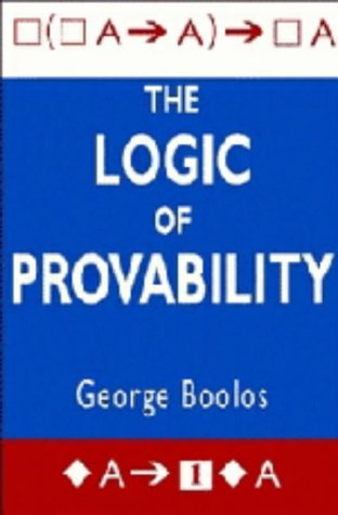 9780521433426: The Logic of Provability