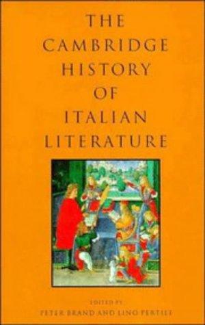 9780521434928: The Cambridge History of Italian Literature