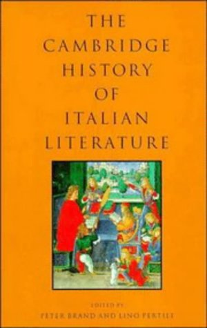 9780521434928: The Cambridge History of Italian Literature