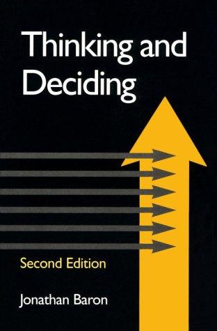 9780521437325: Thinking and Deciding
