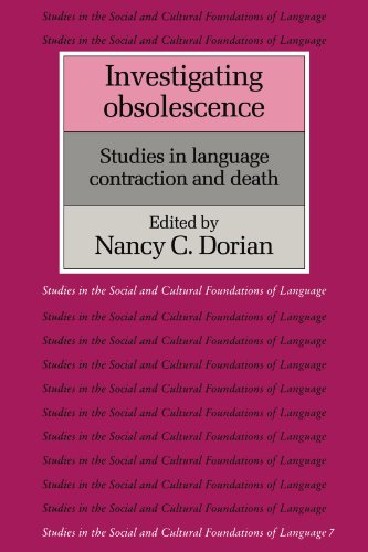 9780521437578: Investigating Obsolescence Paperback: Studies in Language Contraction and Death (Studies in the Social and Cultural Foundations of Language)