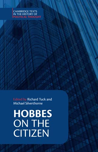 9780521437806: Hobbes: On the Citizen Paperback (Cambridge Texts in the History of Political Thought)