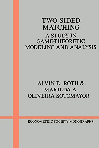 9780521437882: Two-Sided Matching Paperback: A Study in Game-theoretic Modeling and Analysis (Econometric Society Monographs)