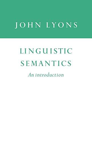 9780521438773: Linguistic Semantics: An Introduction (Cambridge Approaches to Linguistics)