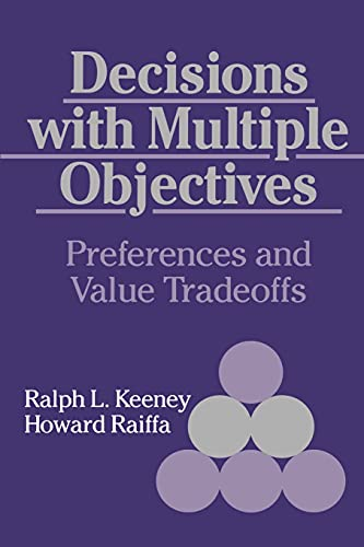 9780521438834: Decisions with Multiple Objectives: Preferences and Value Tradeoffs