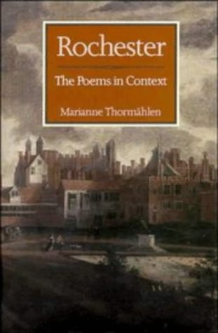 9780521440424: Rochester: The Poems in Context