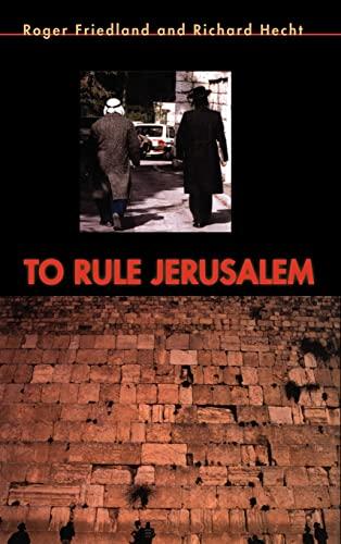 9780521440462: To Rule Jerusalem (Cambridge Cultural Social Studies)