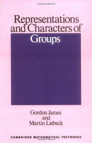 9780521445900: Representations and Characters of Groups