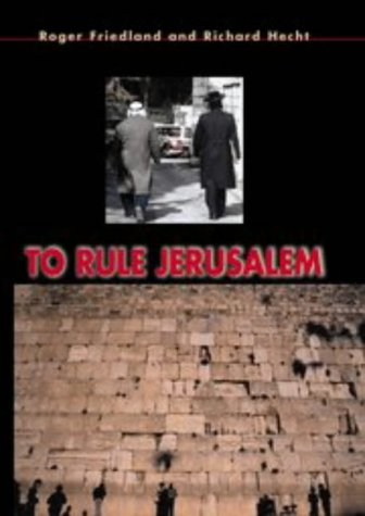 9780521445993: To Rule Jerusalem (Cambridge Cultural Social Studies)