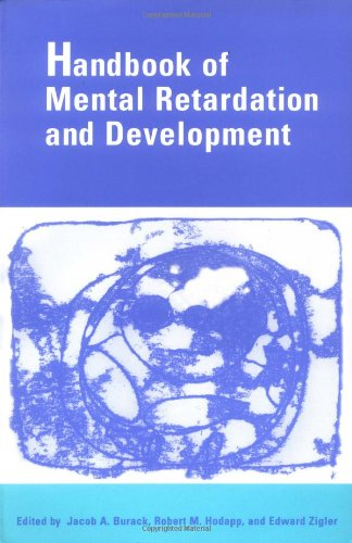 9780521446686: Handbook of Mental Retardation and Development