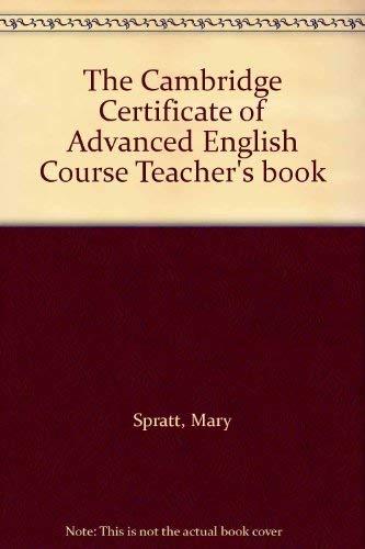 9780521447119: The Cambridge Certificate of Advanced English Course