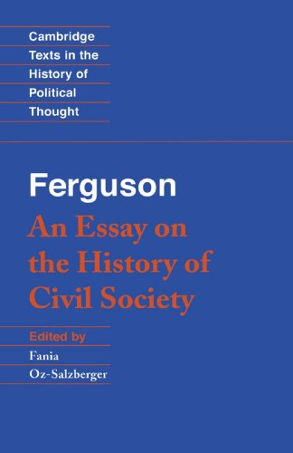 9780521447362: Ferguson: An Essay on the History of Civil Society (Cambridge Texts in the History of Political Thought)