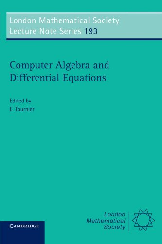 9780521447577: Computer Algebra and Differential Equations (London Mathematical Society Lecture Note Series)
