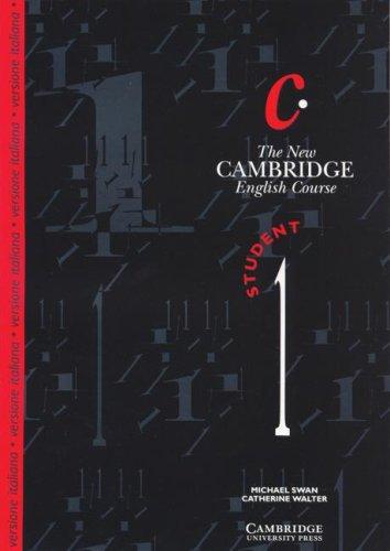 9780521448581: The New Cambridge English Course 1 Student's book Italian edition (Bk. 1)