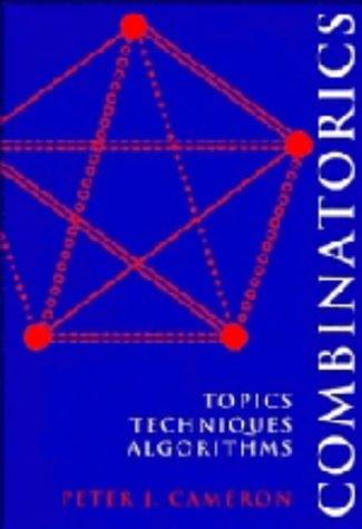 9780521451338: Combinatorics: Topics, Techniques, Algorithms