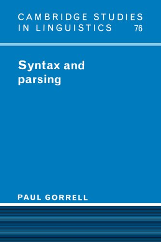 9780521452823: Syntax and Parsing Hardback (Cambridge Studies in Linguistics)