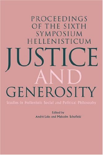 9780521452939: Justice and Generosity: Studies in Hellenistic Social and Political Philosophy - Proceedings of the Sixth Symposium Hellenisticum