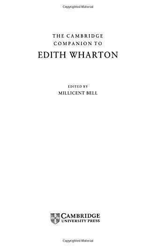9780521453585: The Cambridge Companion to Edith Wharton (Cambridge Companions to Literature)