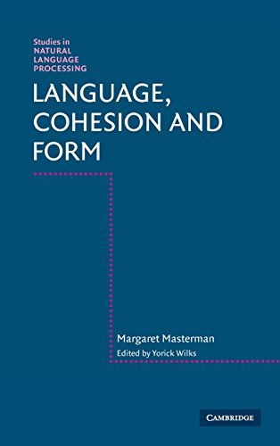 9780521454896: Language, Cohesion and Form (Studies in Natural Language Processing)