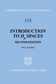 9780521455213: Introduction to Hp Spaces 2nd Edition Hardback (Cambridge Tracts in Mathematics)