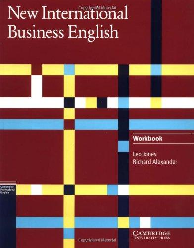 9780521455794: New International Business English Workbook (Cambridge Professional English)