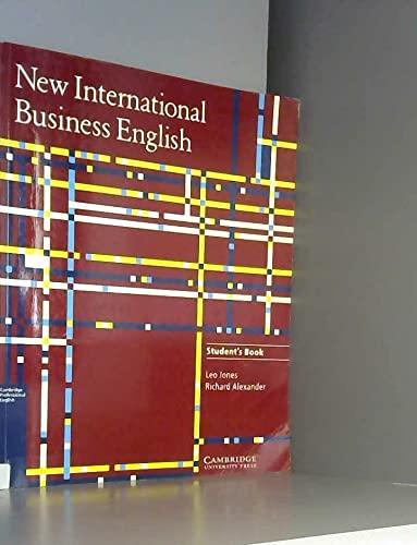New International Business English: Student's Book: Leo Jones, Richard