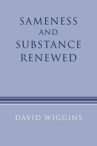 9780521456197: Sameness and Substance Renewed 2ed