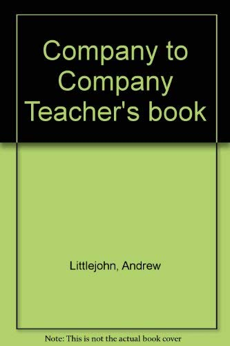 9780521457088: Company to Company Teacher's book
