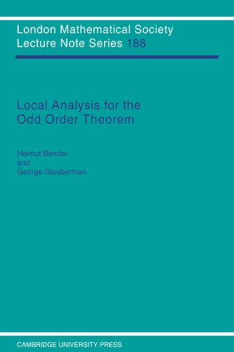 9780521457163: Local Analysis for the Odd Order Theorem (London Mathematical Society Lecture Note Series)
