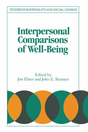 9780521457224: Interpersonal Comparisons of Well-Being Paperback (Studies in Rationality and Social Change)