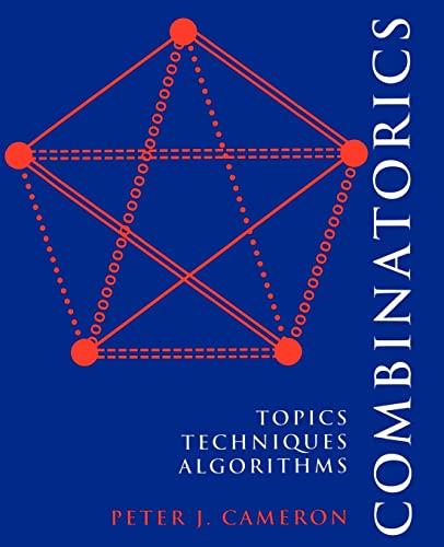 9780521457613: Combinatorics Paperback: Topics, Techniques, Algorithms
