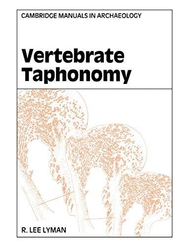 9780521458405: Vertebrate Taphonomy (Cambridge Manuals in Archaeology)