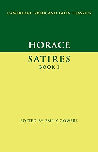 9780521458511: Horace: Satires Book I Paperback (Cambridge Greek and Latin Classics)