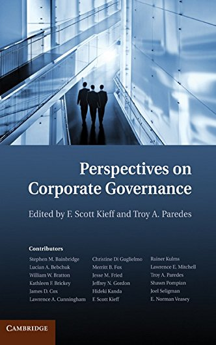 Perspectives on Corporate Governance (Hardcover): F Scott Kieff