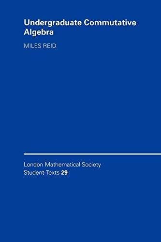 9780521458894: Undergraduate Commutative Algebra (London Mathematical Society Student Texts)