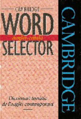 9780521459020: Cambridge Word Selector Angl�s-Catal�
