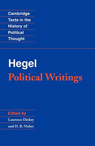 9780521459754: Hegel: Political Writings (Cambridge Texts in the History of Political Thought)