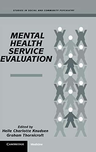 9780521460880: Mental Health Service Evaluation Hardback (Studies in Social and Community Psychiatry)